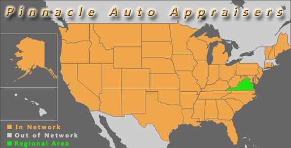 map virginia pinnacle auto appraisal appraiser diminished value inspection